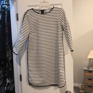 Really cute black and white striped dress